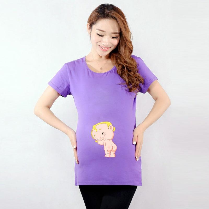 2016 Summer Cute Funny Maternity Shirts Pregnant Women Tops Tees ...