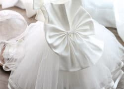 2017 Newborn Baptism Dress For Baby Girl White First Birthday Party Wear Cute Sleeveless Toddler Girl Christening Gown Clothes