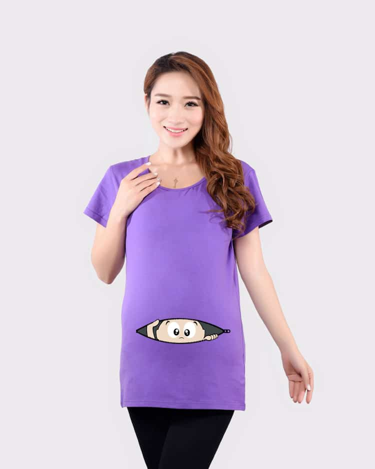 2017 Summer Funny Tops For Pregnant Women Plus Size Short Sleeves ...