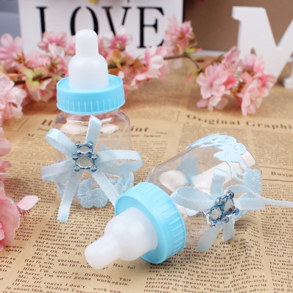 50pcslot Baby Bottle Candy Box Party Supplies Baby Feeding Bottle