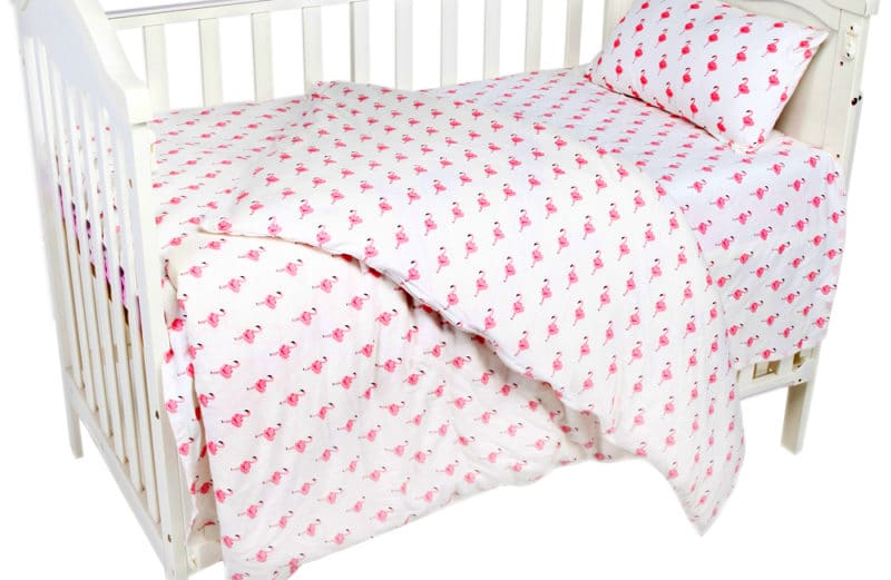 Pink Flamingo Cute Baby Bedding Nursery Set