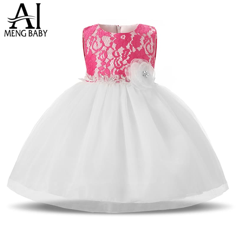 Ai Meng Baby Flower Girl Dress For Wedding Party Toddler Baby Girl 1 ...