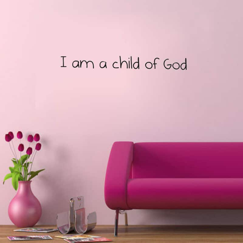 Art I am a Child of God Nursery LDS Baby Room decoration wall art ...