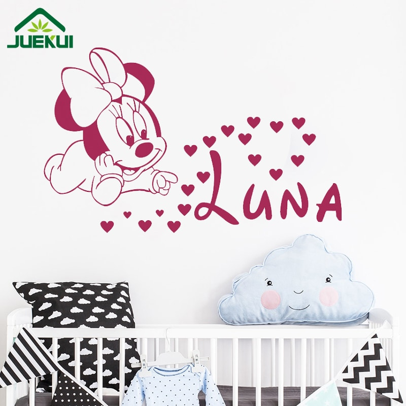 Minnie Mouse Wall Stickers Vinyl Decals Kids Girls Nursery Baby Room Decoration