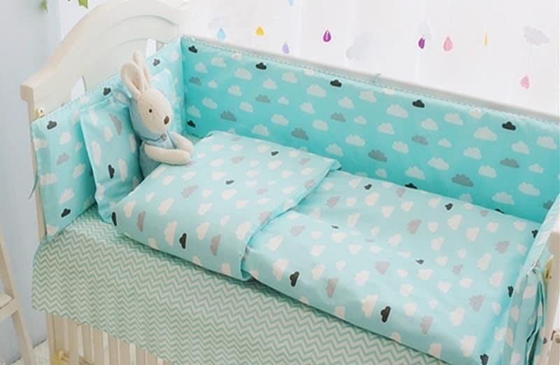 Green Clouds Baby Bedding Crib Set