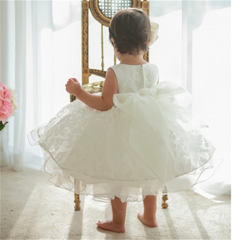 Lace Baby Girl Christening Gowns 1 2 Years Birthday Dress Wedding ...