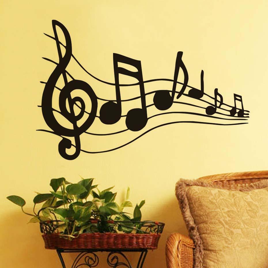 Music Note Sheet Music Art Wall Decal Baby Nursery Decor Vinyl ...
