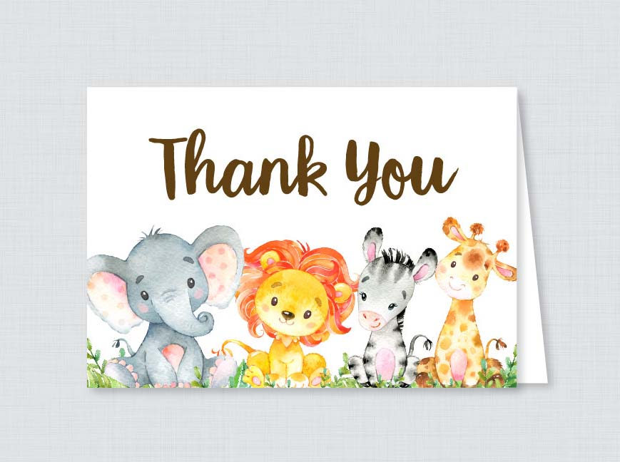 New Arrival Personalized Thank You Card Custom Baby Shower Save The