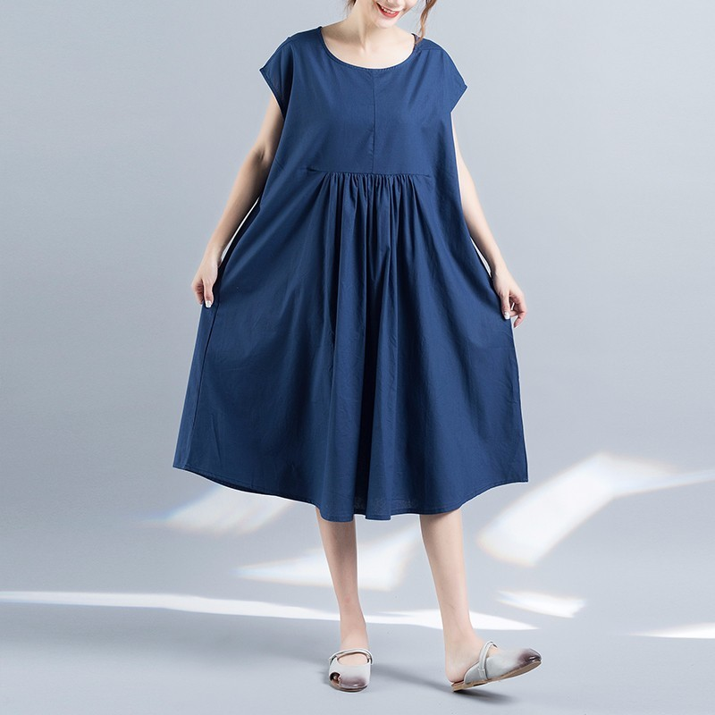 Plus Size Maternity Clothing 2017 Summer Loose Blue Maternity