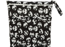 [Sigzagor]1 Wet Dry Bag,Diaper Bag Nappy Bag,Insert,Two Zippered Baby Waterproof, Reusable,Skull,Jack,Skeleton, 90 Designs