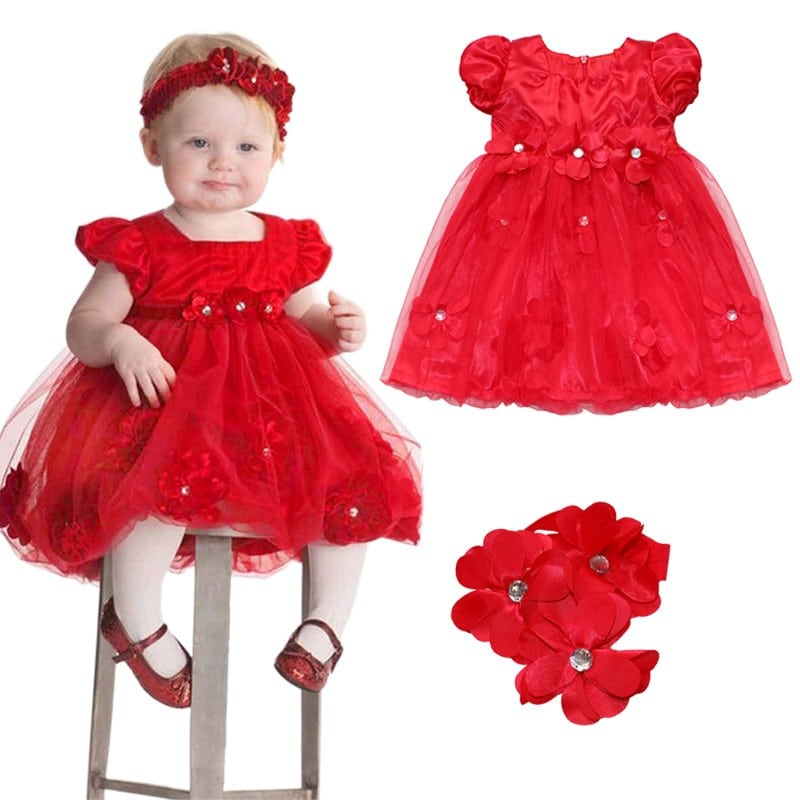 toddler girl baptism dress christmas costumes baby girls princess dresses 1 year birthday gift kids party wear dresses for girls